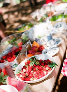 Fresh, summer picnic food.