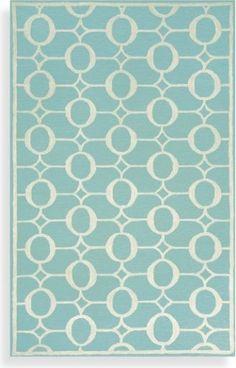 Spello Arabesque Aqua Indoor/Outdoor Rug modern rugs