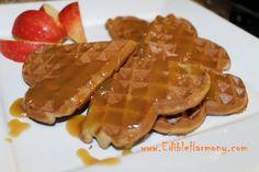 "Crispy Paleo Waffles with a ""Caramel"" Maple Sauce  #EdibleHarmony"