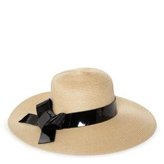 dunes lane patent bow hat