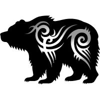 native american bear paw tattoo bear tatynpobkn tatynpobka tattoos grizzly bear russian. Black Bedroom Furniture Sets. Home Design Ideas