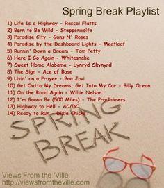 Spring Break Playlist
