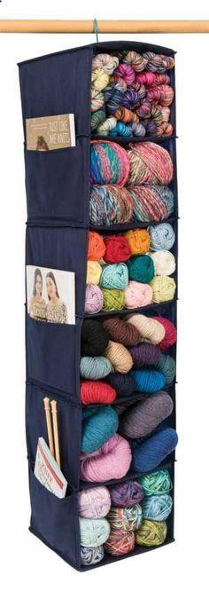 Yarn Organization - smart addition to the craft closet setups.
