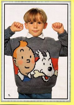 TinTin Herge Knitting Pattern Booklet: 9 Knitting Patterns for childrens and adults sweaters sizes 24- 44: Amazon.co.uk: Gary Kennedy: Books sweater, knitting patterns, knit pattern