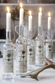 Decorar con botellas.