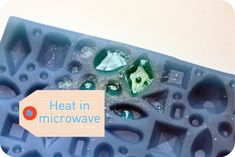 heat crushed candy in microwave to make jewels in silicone mould