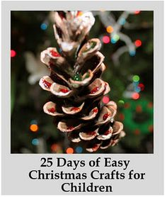 Free eBook of 25 easy Christmas crafts for children.