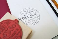stamp, home libraries, font, book, handlettering logo