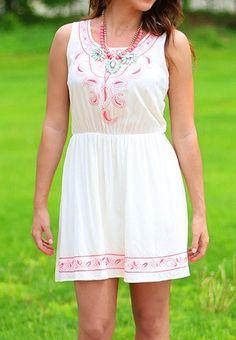 Summer Breeze Dress in Ivory