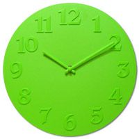 Vogue Lime Green Wall Clock  http://www.retroplanet.com/PROD/32485