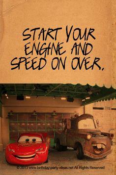 Disney Cars Birthday Party #party #birthday #decoration #cakes #favors #themedbirthday #games #printable #quotes #invitation #sayings #birthdaypartyideas #bpartyideas  #cars #disneycars