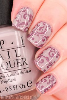 NOTD Nude Flourishes NOTD: Work Appropriate Stamping by The Nail Polish Project. Pinned by www.SimpleNailArtTips.com #nails #nailart #stamping #workappropriate #flourish #fillagree