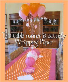 Table runner - Gift wrap paper