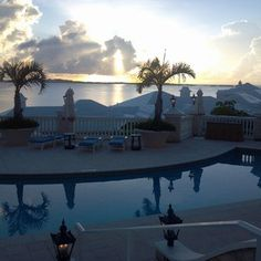 Sunrise over Bermuda, July 18, 2012. Tucker's Point Resort & Spa.