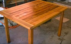 Garden Table Woodwor
