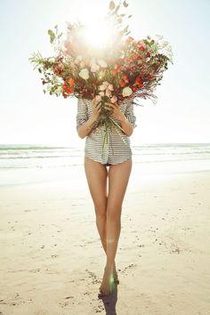 bouquet, beach beauty, flower power, flower children, flower girls