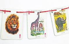Small Bunting, Animal Bunting, Nursery Decor by PeonyandThistle, £5.50