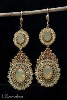 Miguel Ases style Beaded Woven Embroidered by LXandraJewellery, $120.00