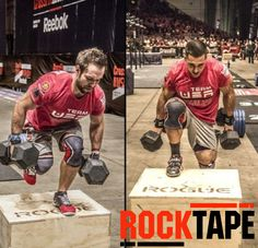 Rich Fronning and Jason Khalipa sporting the new Knee Caps from RockTape at the Worlds in Berlin.