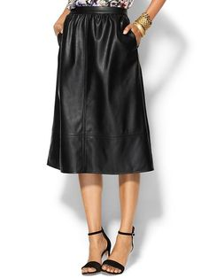 Piperlime Collection Riley Leather Midi Skirt