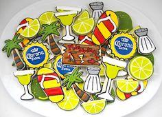 cake, corona, beer, margarita cooki, summertime fun, baking, decorated sugar cookies, themed parties, cinco de mayo