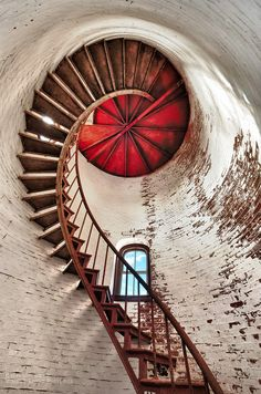 New England Lighthouse spiral staircase. COPYRIGHT:© Visible Light Pictures LLC