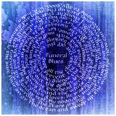 "Funeral Blues by W.H. Auden. 18"" x 18""  Arches Text Wove paper  Mitchell #2 1/2 nib  Watercolors:  Blend of Da Vinci Ser. 3 Cadmium Yellow Deep and M. Graham Ser. 4 Cerulean Blue  Humanist Bookhand script and Roman Capitals   .............................................  This poem was, of course, read by Matthew (John Hannah) at the funeral of Gareth (Simon Callow) in the 1994 movie ""Four Weddings and a Funeral."" Never get tired of that movie."
