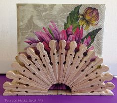 Clothespin Napkin Holder - Purple Hues and Me