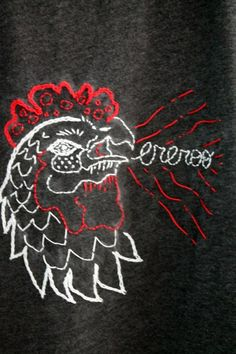 Embroidered Rooster...