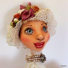 Fantasy Cloth Art Doll Grace Edwardian  Doll by Treenickel on Etsy, $200.00