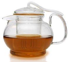 Spring Rain Filtering Glass Tea Pot 20.4 Fl (Enjoying Tea)