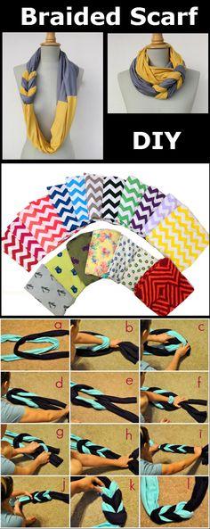 home diy ideas, braid scarf, fashion ideas diy, scarf ideas diy, clothing diy ideas, diy braided scarf, braided scarf diy, scarfs diy, diy clothing projects