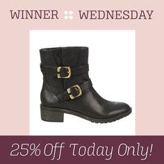 Your Winner Wednesday pick is the Mona! Use code SHOESDAY to get 25% off today only on Naturalizer.com!