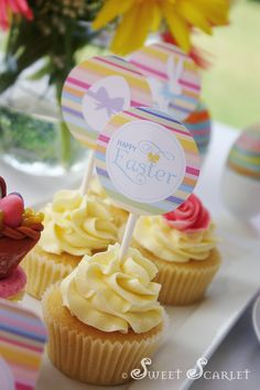 Easter Printable Cupcake Toppers