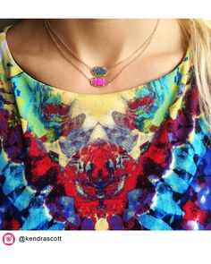 Skylie Pendant Necklace in Magenta - Kendra Scott Jewelry. Coming July 16!