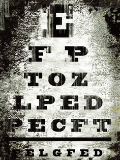 Eye Chart by Tracy Hiner. Canvas art by InGallery.com