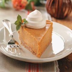 Cream Cheese Pumpkin Pie Recipe from Taste of Home -- shared by Kim Wallace of Dennison, Ohio