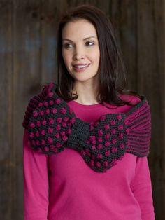 Ribbon and Bow Cowl | Yarn | Free Knitting Patterns | Crochet Patterns | Yarnspirations