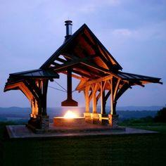 Horse farm fire pit. Stengel Architecture.