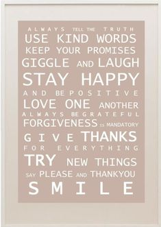 simple words for life