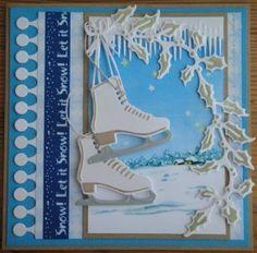 Marianne Design Card Ice Skates