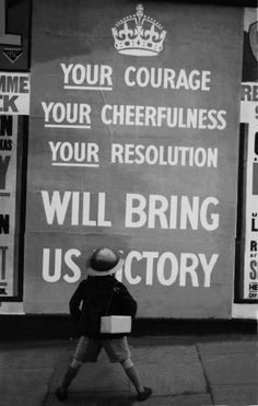 Patriotic propaganda poster, London, September 1939  (Photo by Keystone-France/Gamma-Keystone via Getty Images)