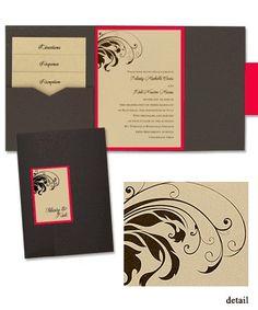 Quinn Folio Pocket Wedding Invitations