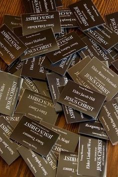 Missionary Tags - FREE printable and how to.
