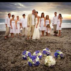 Bridal Party on the Shore