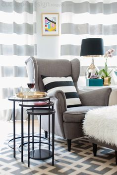 Cuckoo 4 Design: Nesting Table Giveaway and a Refreshed Living Room living room chairs