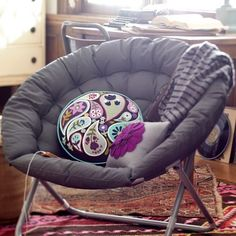 Love these chairs. I'm getting mine at target in turquoise! You can find them in black, purple, and zebra at bed bath and beyond