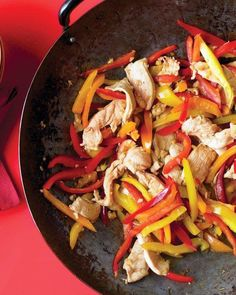 Stir-Fried Honey-Ginger Chicken with Peppers Recipe