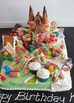 Candyland board cake