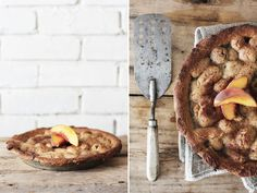 ALABAMA PEACH AND BLACKBERRY COBBLER WITH ALMONDCRUST